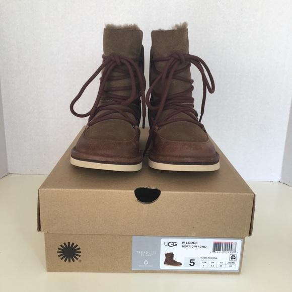 c536b5abc25 New UGG Women Lodge Boots. Chocolate color Sz 5 wn NWT